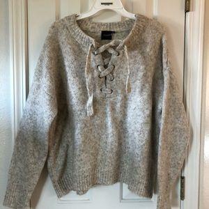 Tan spec winter sweater
